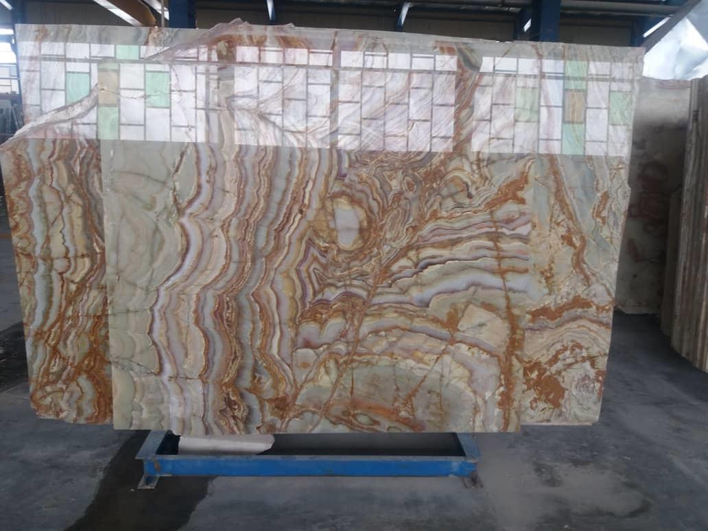 MultiColor Onyx Polished Slabs