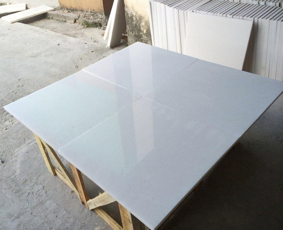 Vietnam white marble tile polished