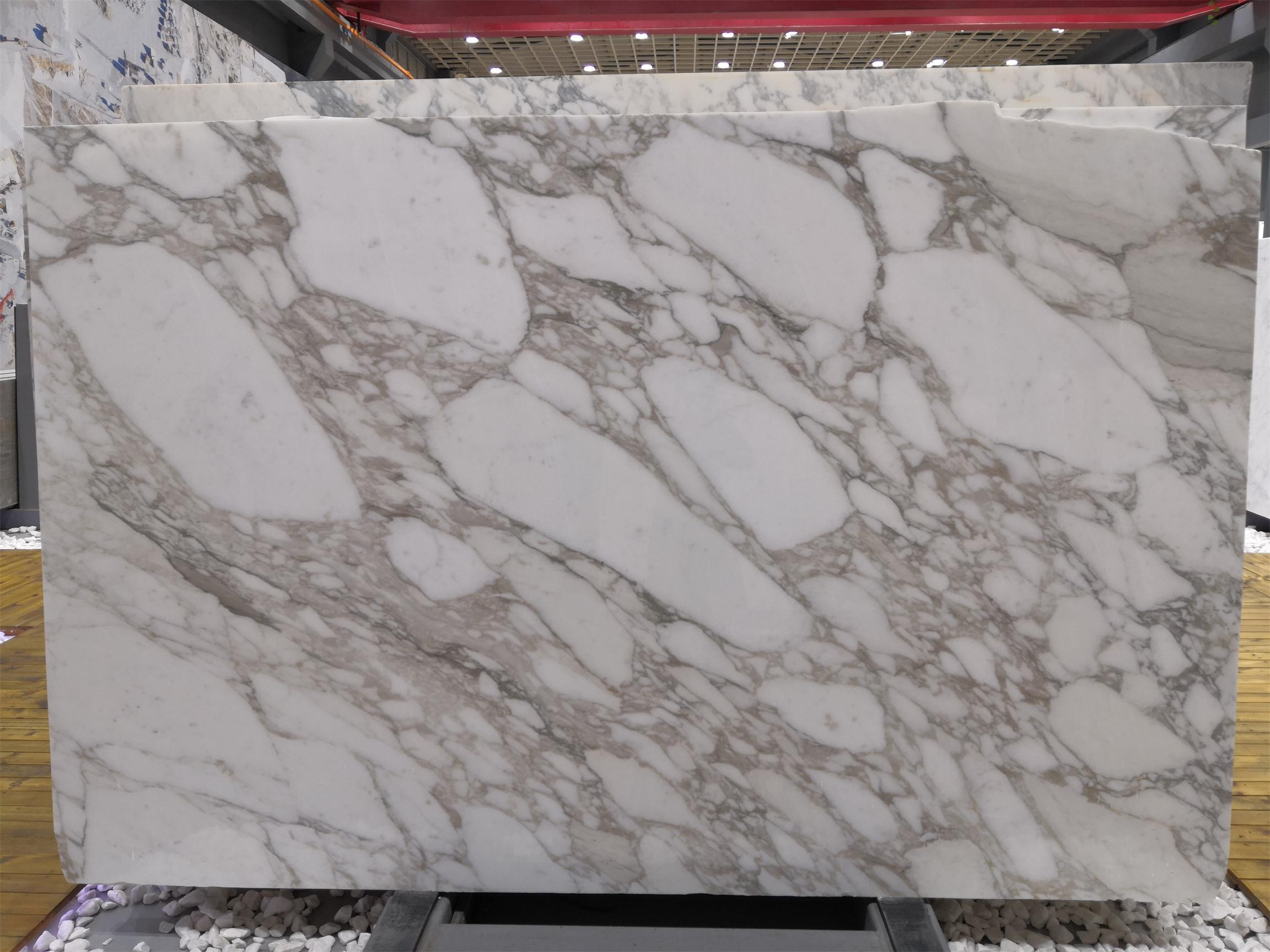 Calacatta  Golden Marble Slabs Polished White Marble Slabs