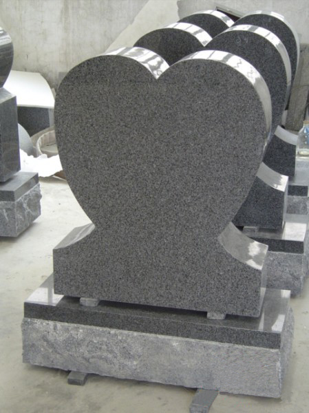 Gray tombstone in American style