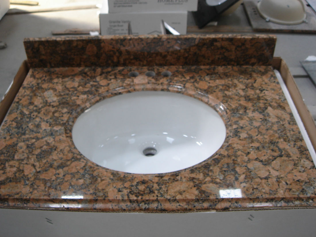 Tropical Brown Granite Vanity Tops