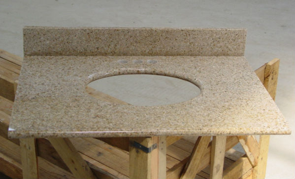G682 Rusty Golden Yellow Granite Vanity Tops