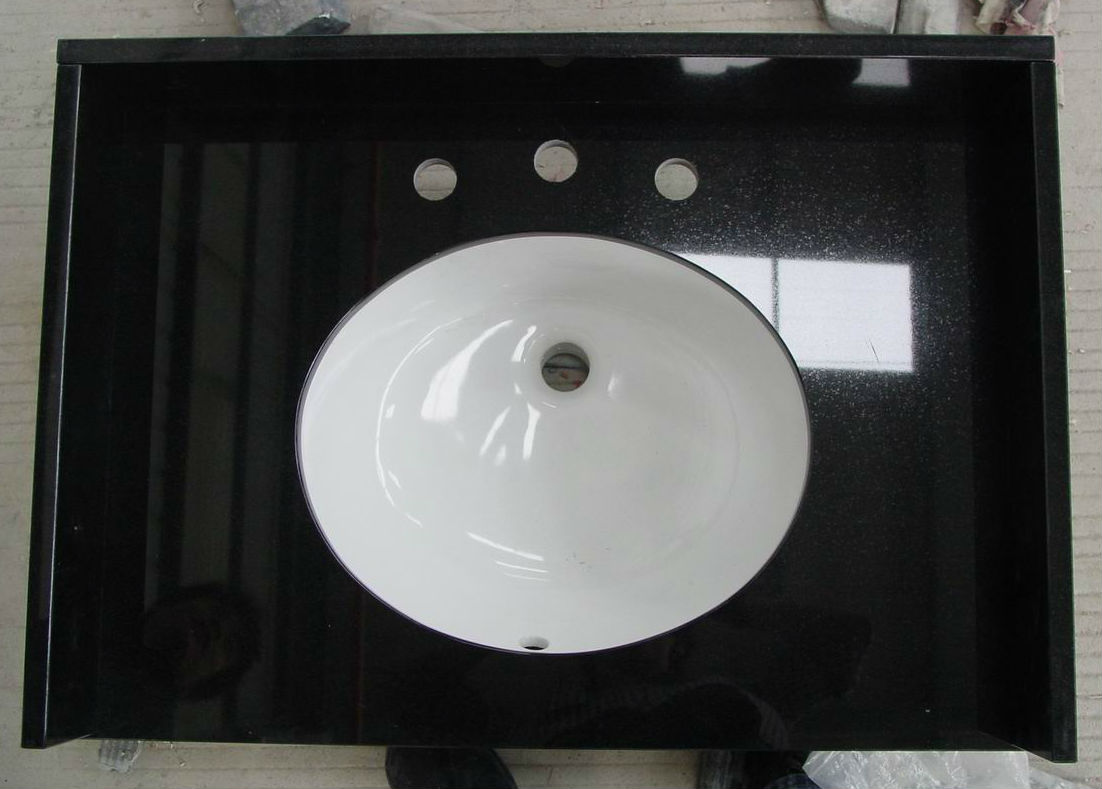 Black Granite Vanity Tops Polished