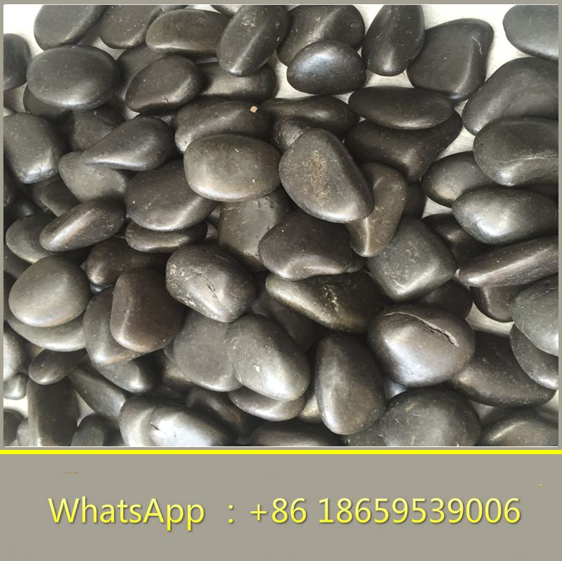 black flat river cobble stone