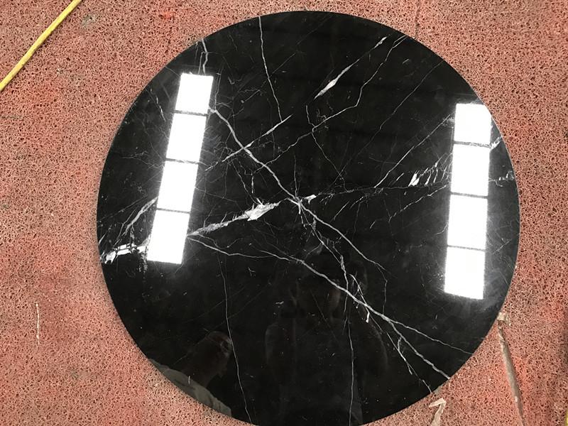 Black Nero Marqunia Round Table Tops