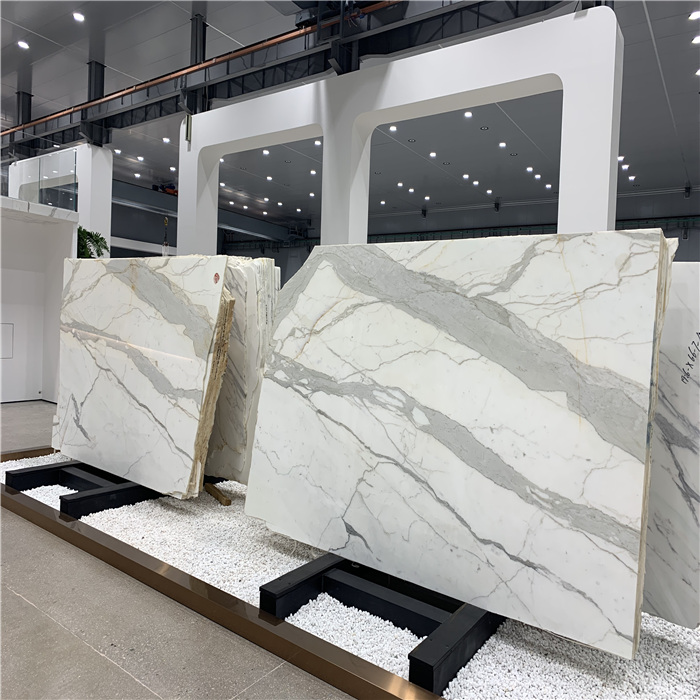Top quality bianco calacatta carrara white marble