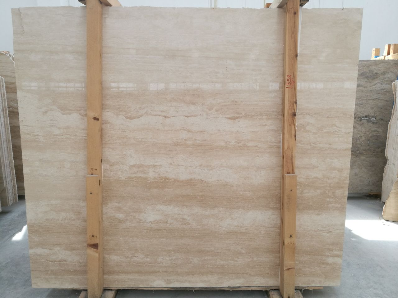 turkish travertine ivory vein cut
