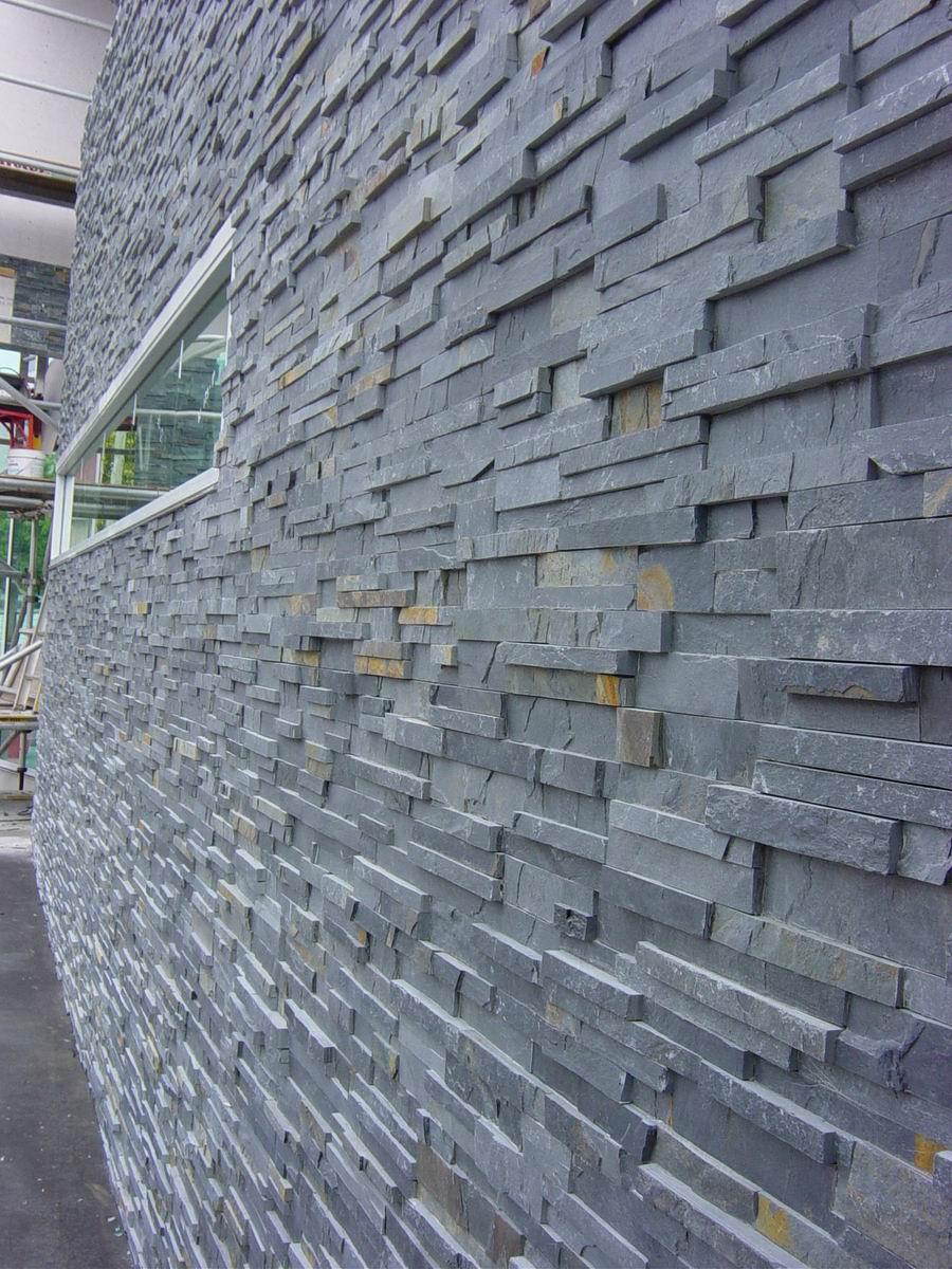 black slate wall stones RP-18F