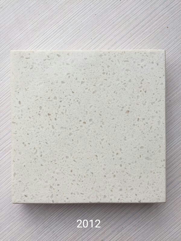 Crystal white artificial quartz stone