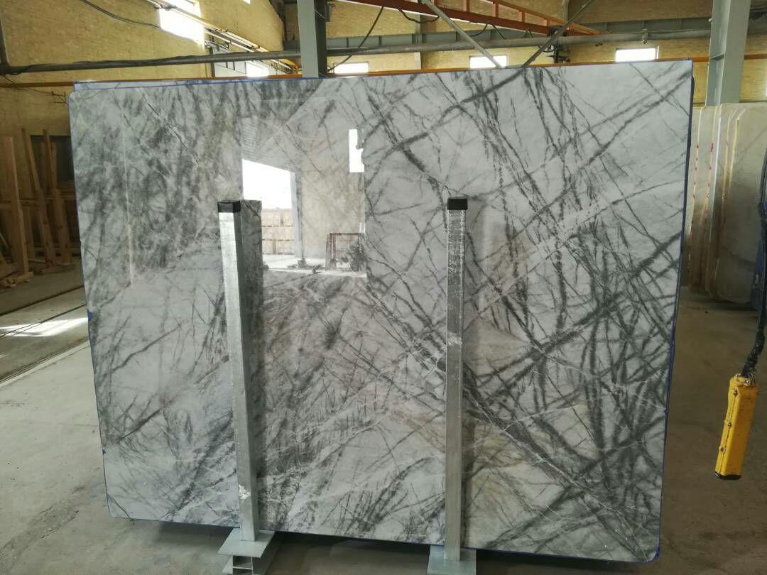 White Spider Marble Slabs