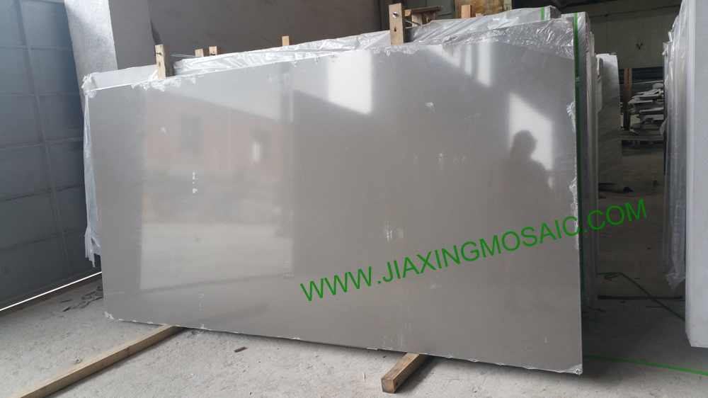 Artificial stone grey color big size quartz slabs #2014