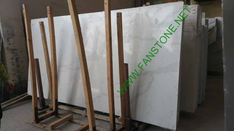 Artificial stone white color slabs/calacatta white quartz slabs