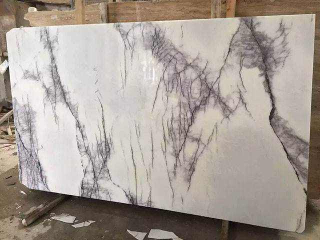 Italy hoar disorderly lines white marble