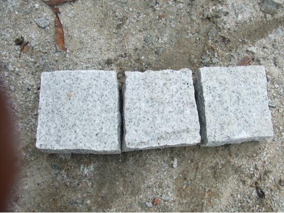 ligh grey cube stone