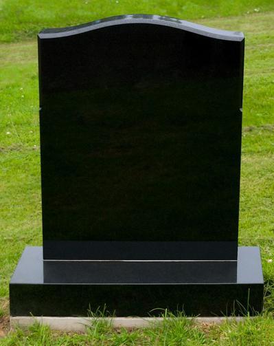 Black marble Headstone