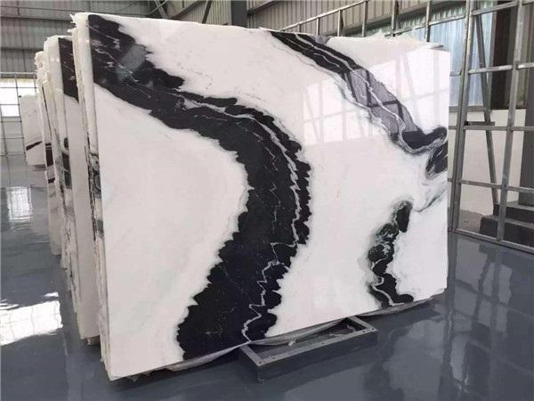 marble slab panda white
