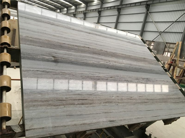 Crytal wooden White marble slab