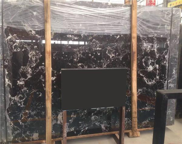 black rose marble slab