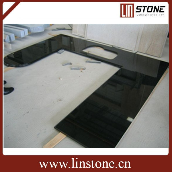 Black granite kicthen countertop worktop top