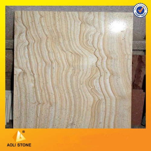 Yellow wooden vein sandstone tiles for paver