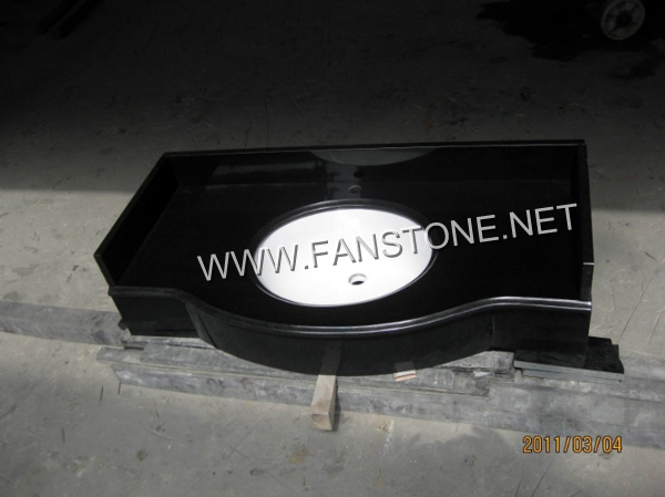 India black granite vanity top