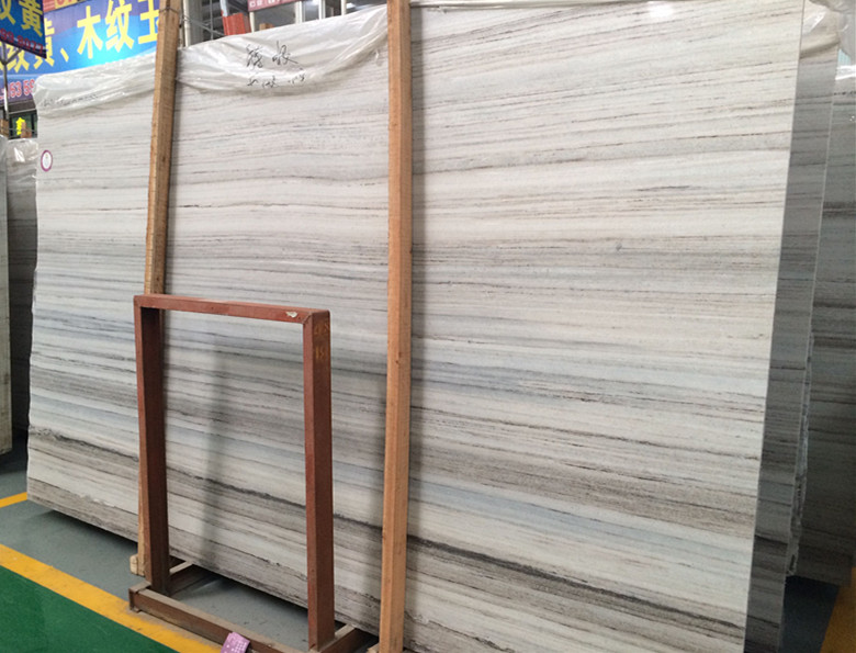Crystal wooden vein marble slab