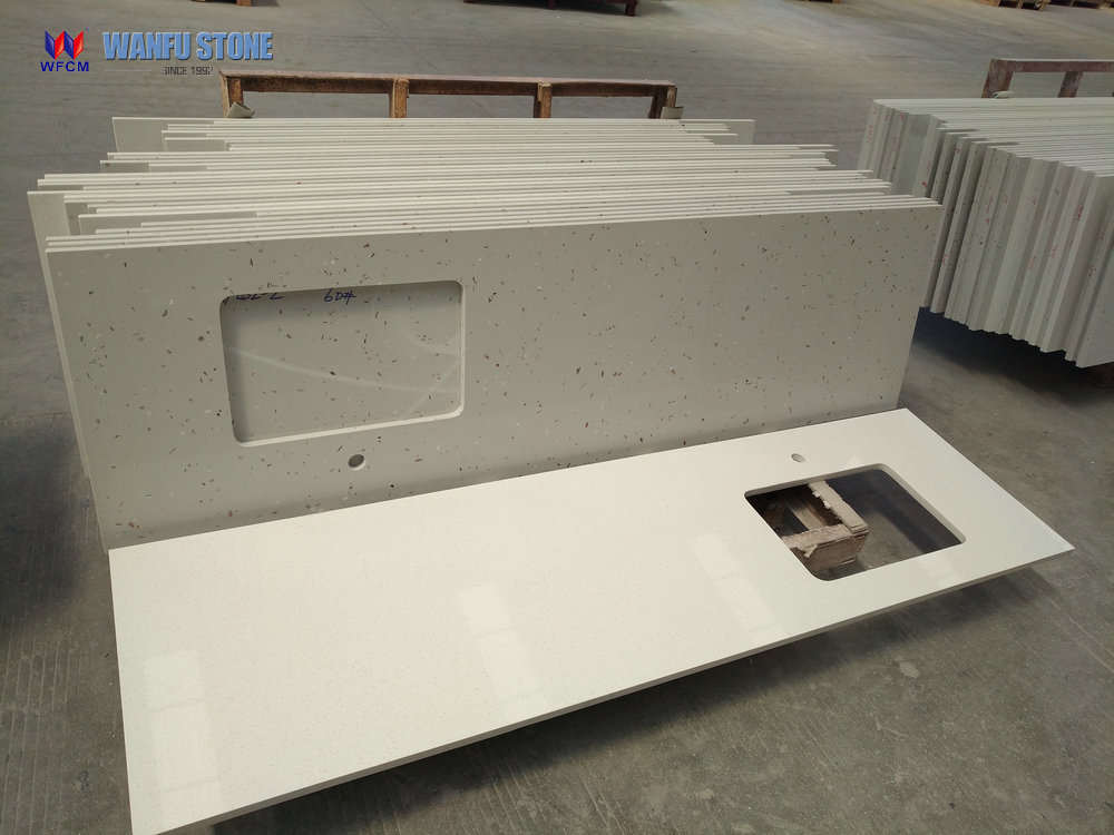 White Quartz Countertop Artificial Quartz Stone Countertop
