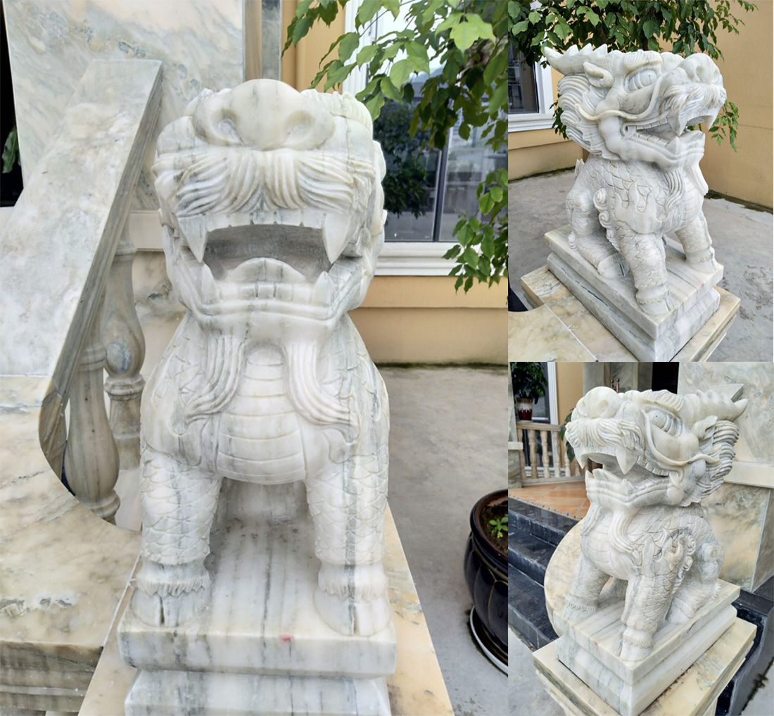 China White Marble Carving
