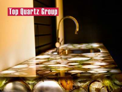 Luxury transparent kitchen or toilet Onyx countertops