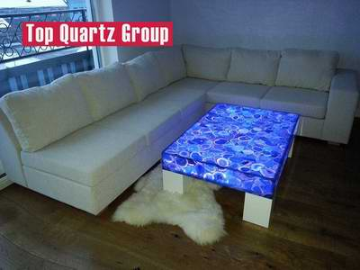 Backlit Semi Precious Stone Blue Agate Stone Table