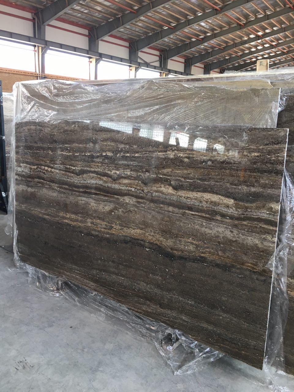 Travertine Stone Slabs : Silver travertine slabs