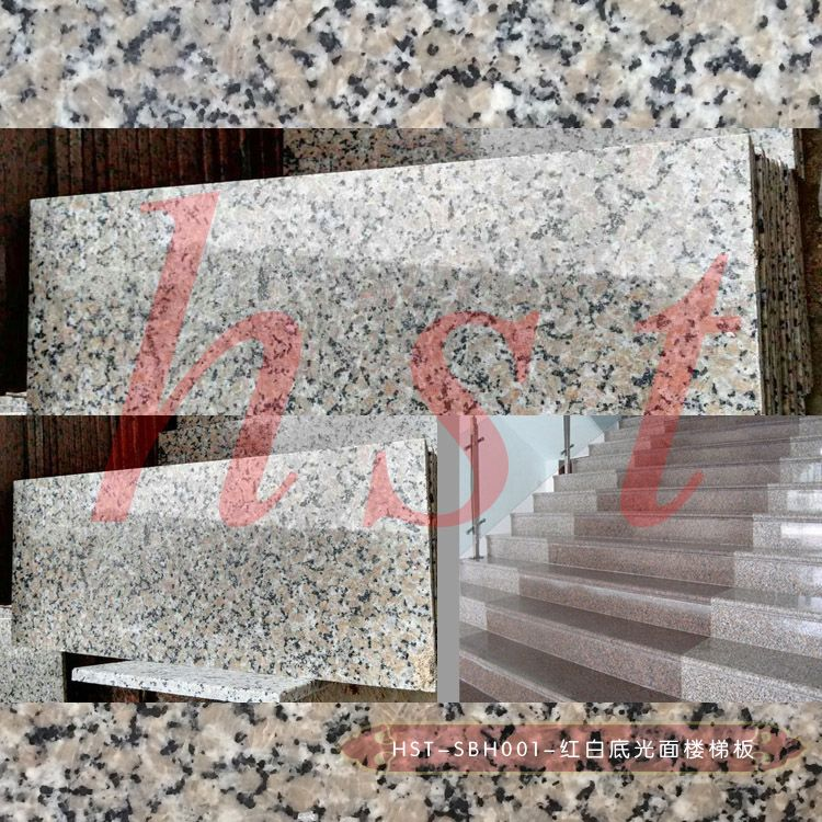 sanbao red graniteG563 granite stairs