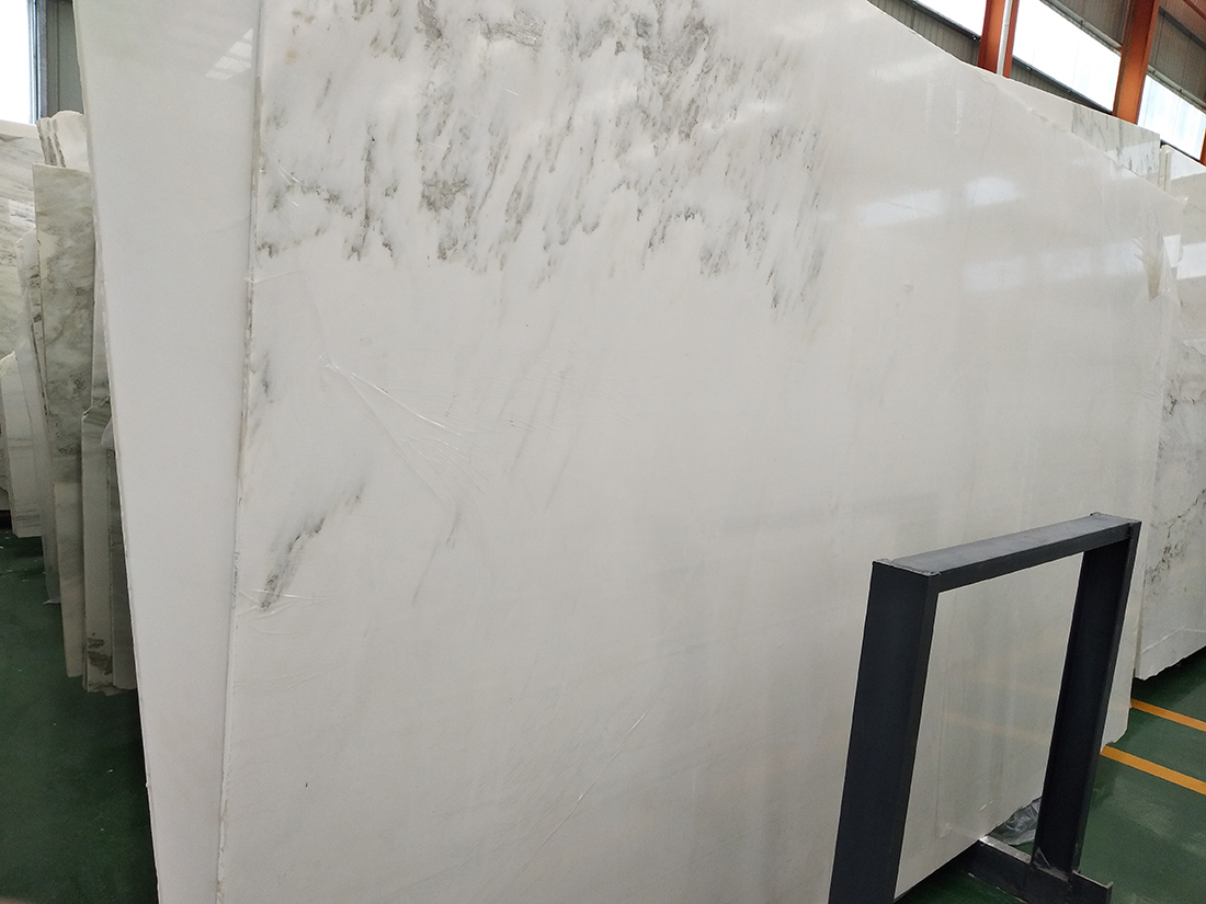 Landscape Painting China White Marble Slabs