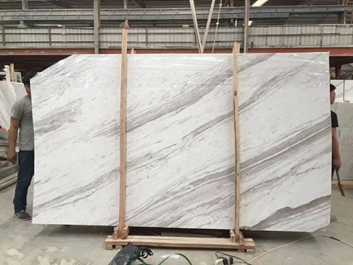 Greece White Marble  Volakas White Marble Slab  from Old Quarry