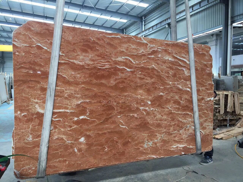 Orange Red Marble Slab