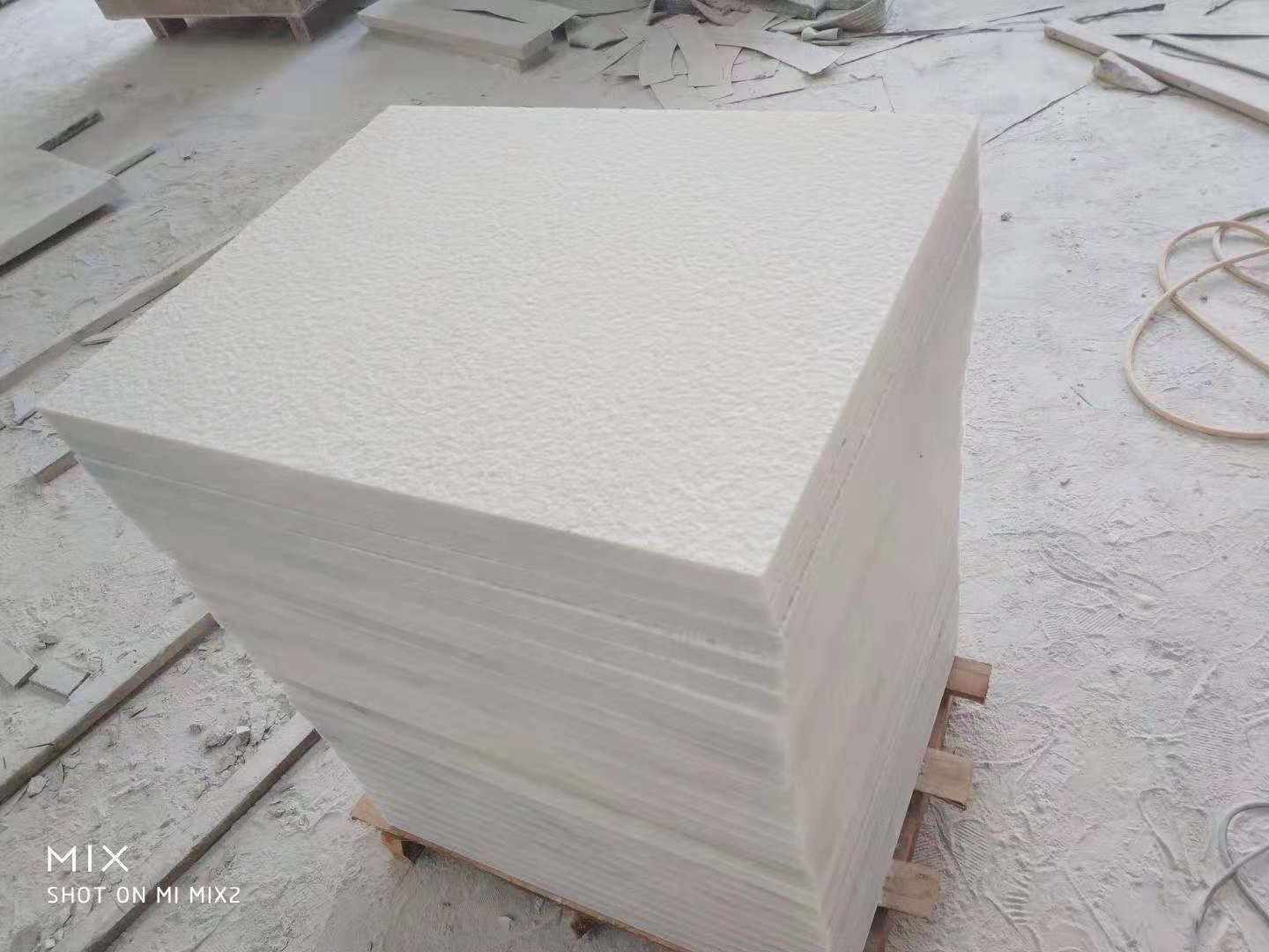 Pearl White Granite Tiles Flamed Tiles