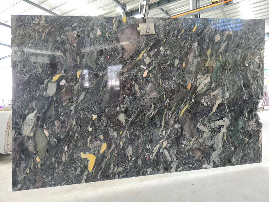Nine Dragon Jade Marble Polished Slabs from China