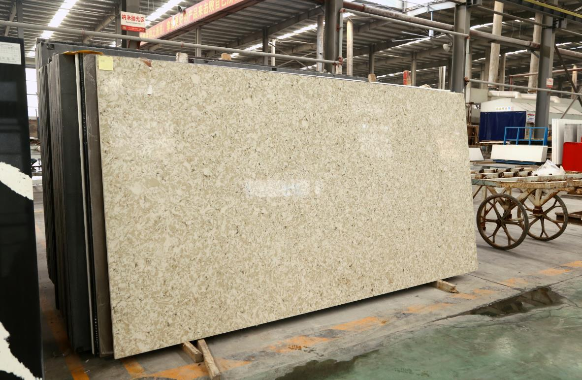 artificial quartz stone slab countertop multicolor