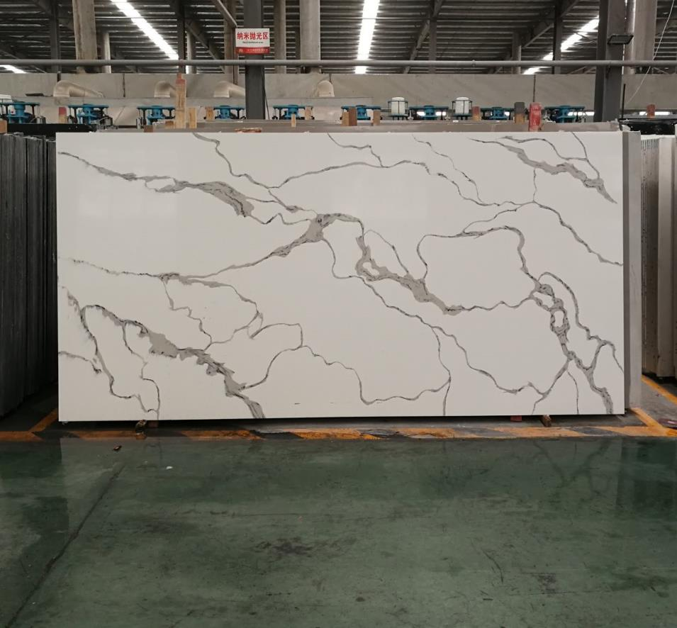 artificial quartz stone slab countertop catacalla