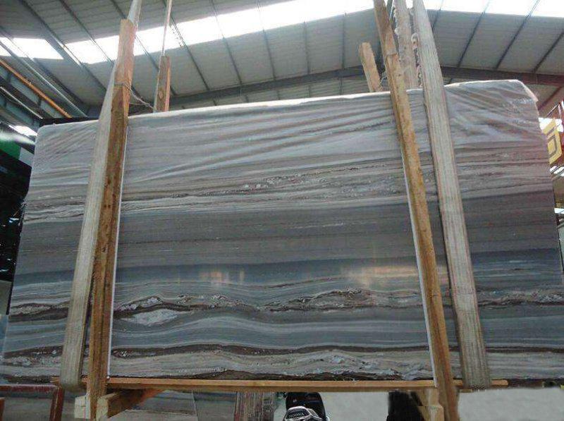 Blue Wooden Grain Marble