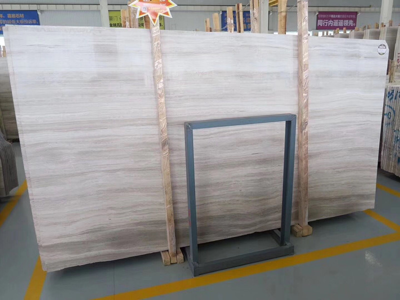 Grey White Wooden Marble