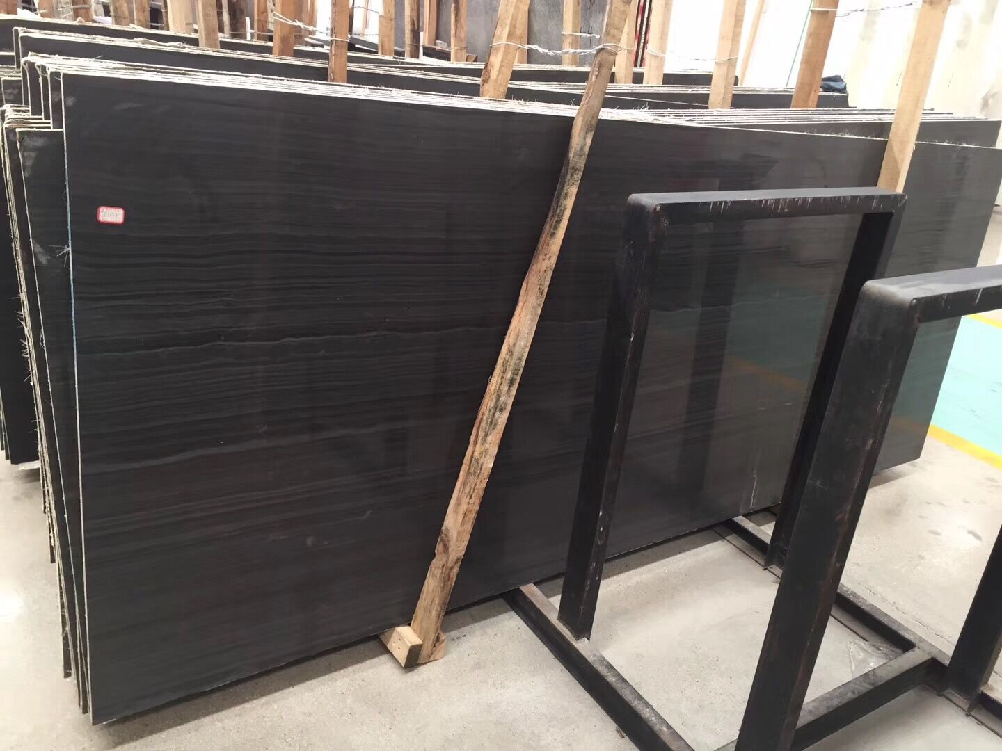 Black Wooden Marble Slab
