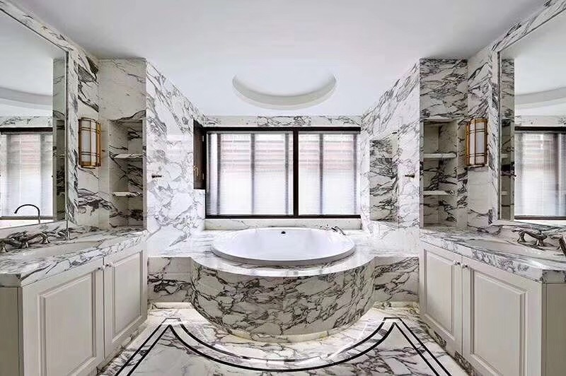 Macedonian White Marble Bathroom Countertops