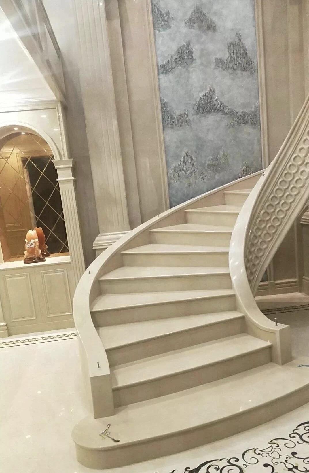 Manolya Bej Mermer step tiles staircase wall tiles