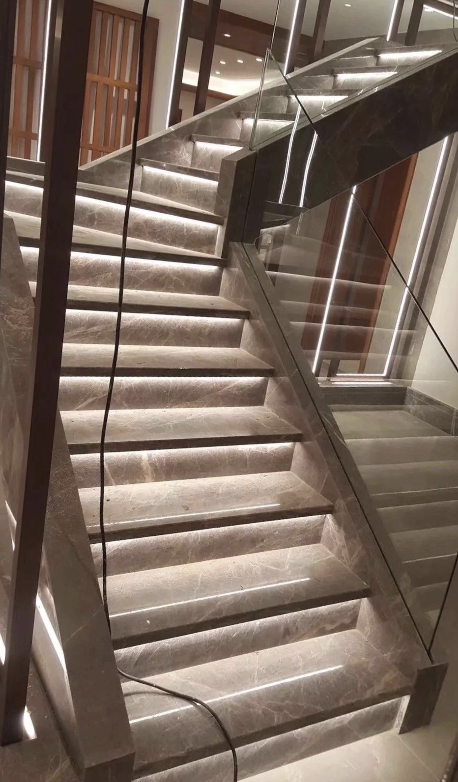 Grey Stream Marble wall tiles steps