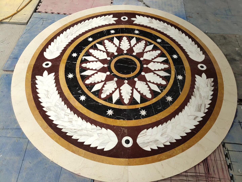 Roung waterjet pattern medallion