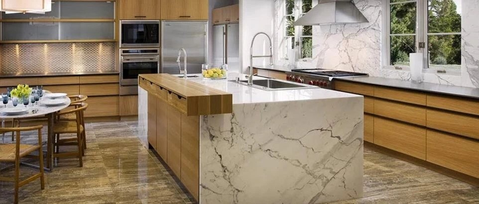 Natural cuatom sixe marble island tops - Kitchen Countertops