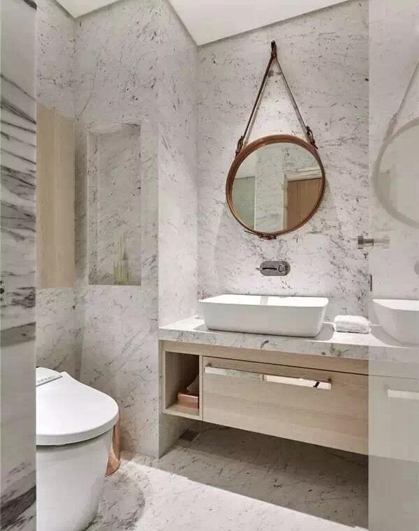 Lao Cai White Marble Bathroom Vanity Tops