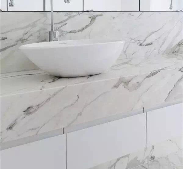 Milk White Marble Bathroom Vanity Tops