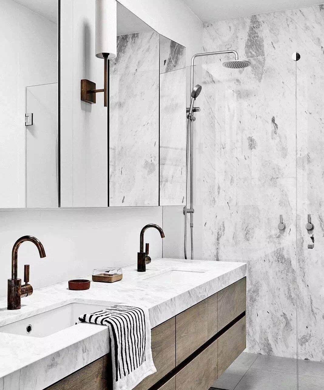 Afyon White Marble Bathroom Vanity Tops